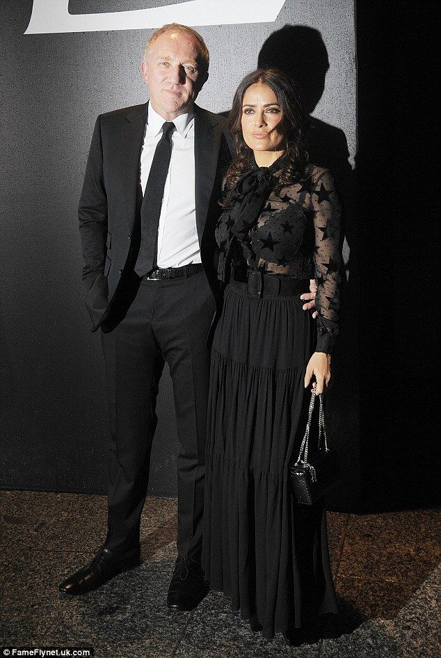 Date: Salma Hayek and her husband François-Henri Pinault were also spotted front row...