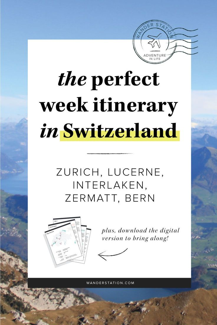 The Perfect Week Itinerary: Switzerland  URL : http://amzn.to/2nuvkL8 Discount Code : DNZ5275C