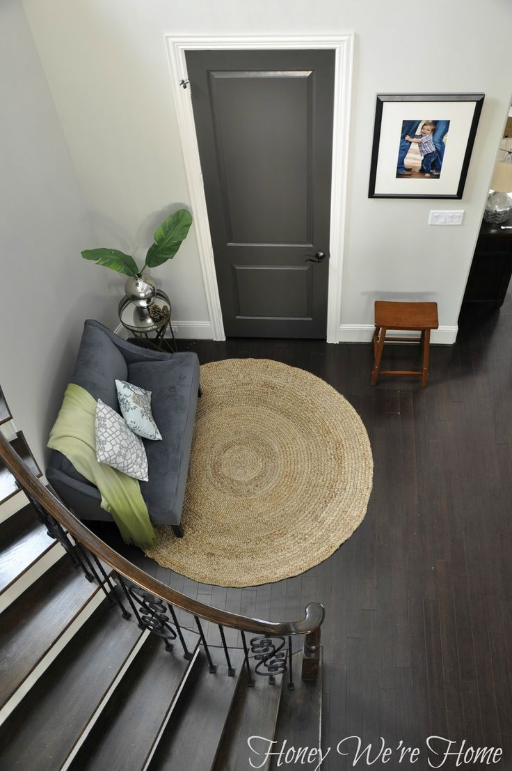 Honey We're Home: Black/Gray Painted Interior Doors