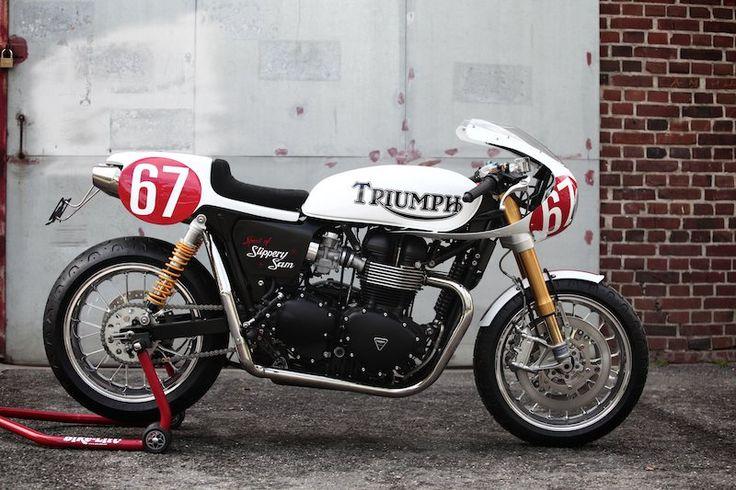 Details for custom bike Triumph Bonneville Triumph Dealer flagship store in Hamburg