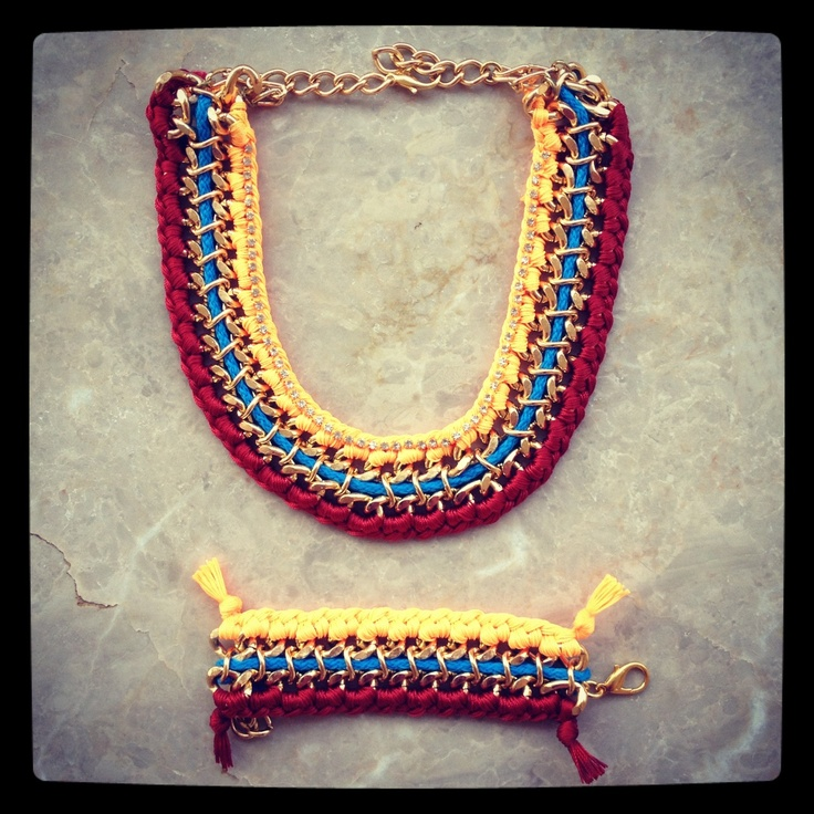 Rainbow chain necklace & bracelet