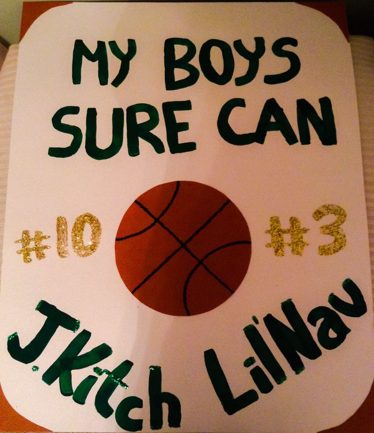 high school boys basketball game sign