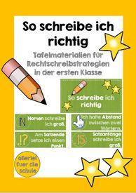 Spelling Strategies Class 1 – Teaching Material in German