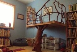Handmade Tree Loft as seen in Waldorf classrooms