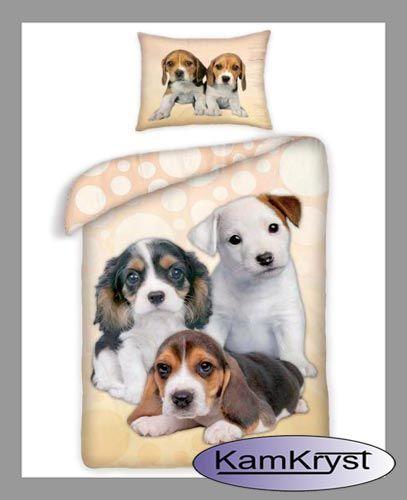 Pościel Psy - posciel dziecięca z postaciami cudownych szczeniąt - 100% bawełna. Pościel dostępna na stronach sklepu.
