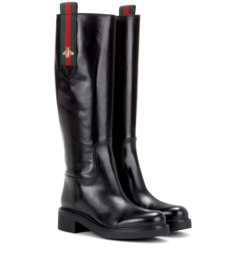 GUCCI Leather Boots. #gucci #shoes #boots