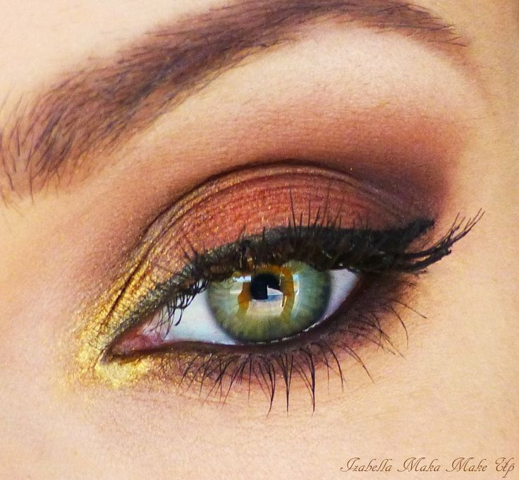 'Autumn Leaf' Look.  Absolutely lovin' it, I have one called 'Amber Blaze' by Mary Kay is PERFECT for the darker color.  I'm lucky to have every possible color of eyeshadow! :D