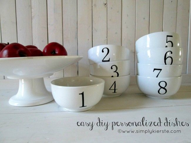 diy personalized mug and dishes