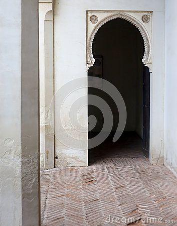 Beautiful Moorish arch door sculpture