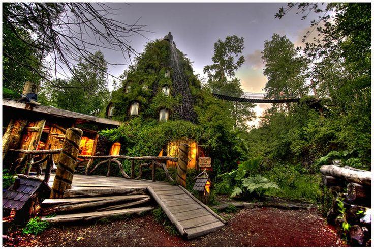Hotel La Montaña Mágica, Huilo Huilo, Los Rios region of Chile.