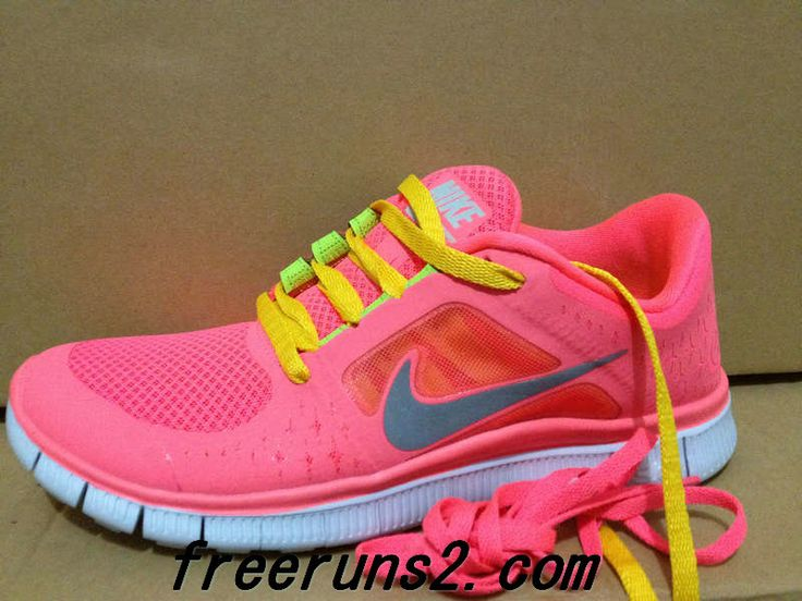new concept 72929 f636b ... Mens Nike Free Run 3 Hot Punch Reflective Silver Sol Volt Yellow Lace  Sneakers 2013 ...