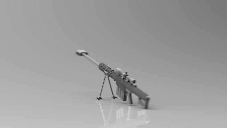 3D Model Barrett M82 - 3D Model