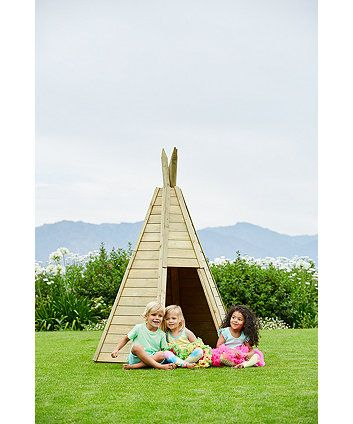 The Plum Wooden Teepee is the perfect hideaway or garden haven for little (or big!) ones. Made from sustainably sourced wood to decorate anyway you like.