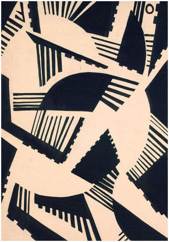 Otto Freundlich 1934 Postkarte Kräfte
