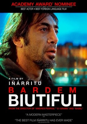 Biutiful (2010) Diagnosed with terminal prostate cancer, Uxbal (Javier Bardem) -- a divorced father raising two children -- is determined to atone for his life as a black marketeer in this engrossing character study that unfolds in the slums of Barcelona, Spain. Co-starring Maricel Álvarez as Uxbal's estranged wife, director Alejandro González Iñárritu's haunting tale received Oscar and Golden Globe nominations for Best Foreign Language Film.