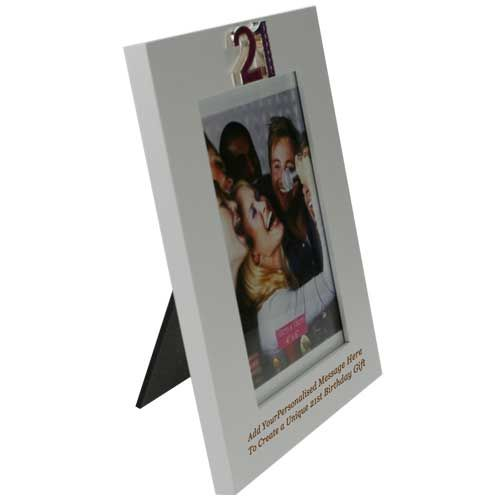 Personalised 21st Birthday Engraved Photo Frame