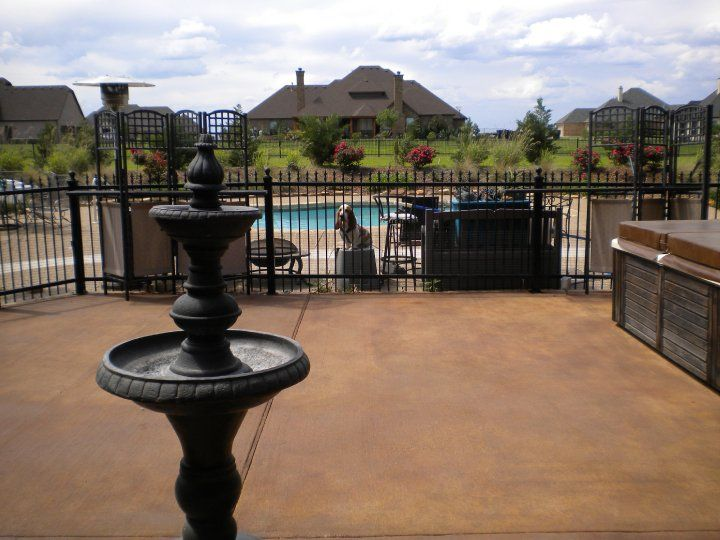 Great Liquid Antique Concrete Stain Patio