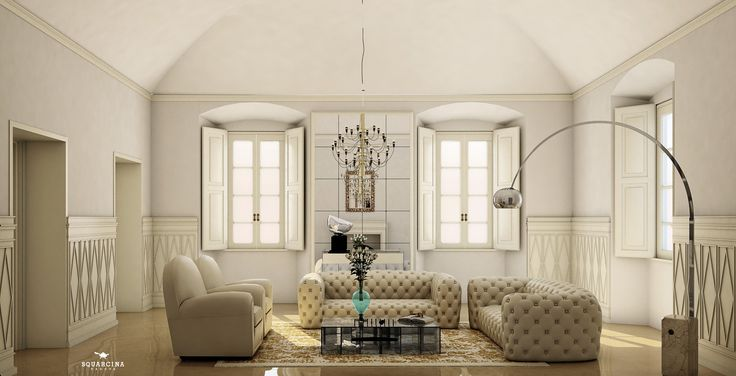white livingroom squarcina padova design
