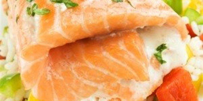 Salmon with Pecan Pesto