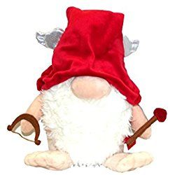 Aurora The Gnomlins Valentine's Day Garden Gnome Plush Doll, 13.5 X 9 inches