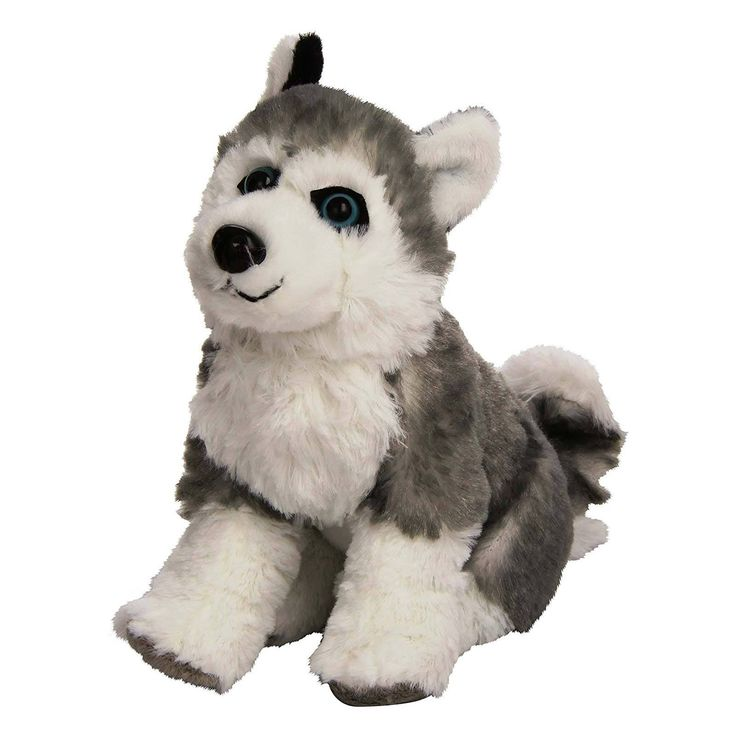 Cuddlekins Mini Husky Dog 8 Inch Animal Plush Figure