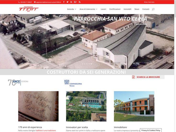 Fabio Pedaletti web design portfolio: 20 anni di esperienza in ambito web. Web design per Costruzioni Tieni 1836 srl: sito istituzionale #WebDesign #CostruzioniTieni1836 #CostruzioniTieni