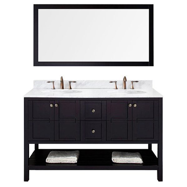 The Templeton is built with ample storage space while still providing the classic elegance and beauty you seek for your comfort station. Constructed with high quality solid oak wood, this vanity will surely last a lifetime. This vanity offers a revealing hospitality towel rack for additional storage space. A chic, beautiful Italian carrara marble countertop and designer brushed nickel hardware completes the set. The Templeton is a benchmark in transitional designs.