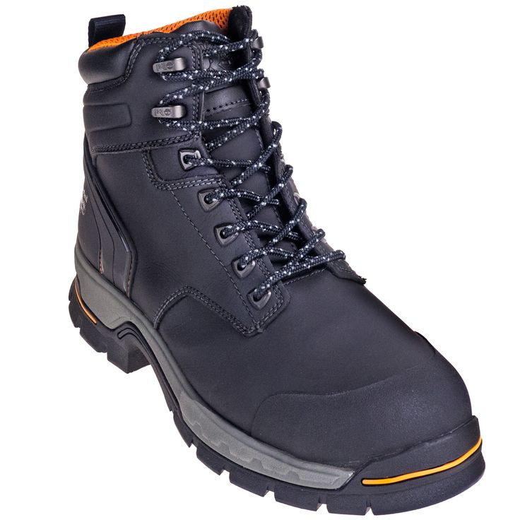 Timberland Pro Boots Men's TB01064A 001 Black EH Stockdale 6-Inch Alloy Toe Work Boots