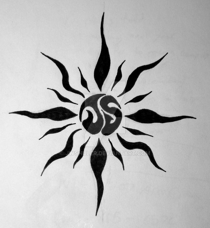 JS Tribal Sun by jwshuler.deviantart.com on @DeviantArt