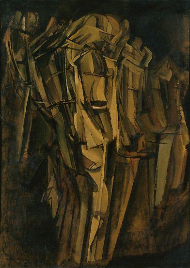 Marcel Duchamp, Nude (Study), Sad Young Man on a Train (Nu [esquisse], jeune…