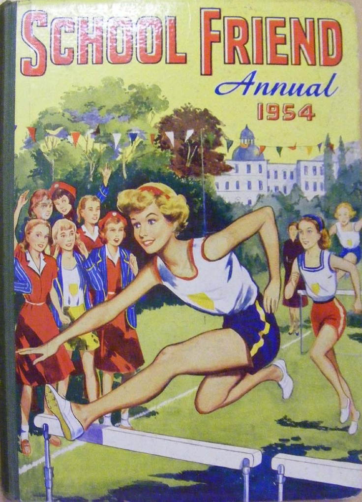School Friend Annual 1954 Bunty and other girls comics