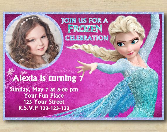 Frozen Invitation With Photo Frozen Custom Birthday Invitation