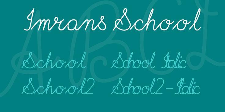 Imrans School Font Family · 1001 Fonts