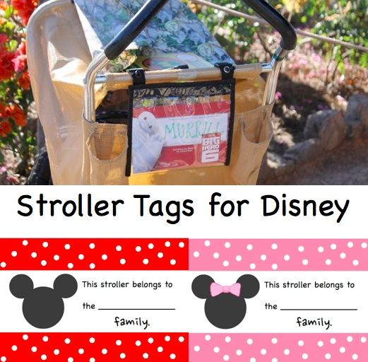 10 Ways to make visiting Walt Disney World easier with toddlers or preschoolers and FREE stroller labels