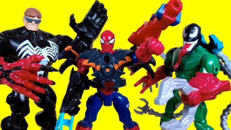 Superhero mashers, Spiderman, Venom, Green goblin, Doc ock, Marvel Toys ...