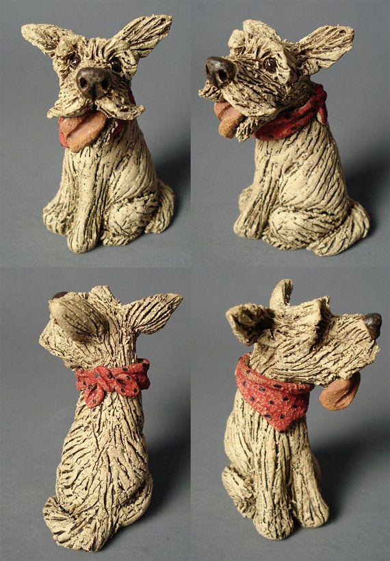 Salty Sea Dogs - Miniature Ceramic Sculptures. via Etsy
