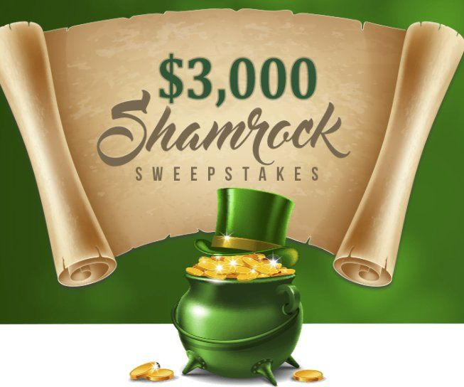 Enter to win $3,000.00 cash. No need to shakedown a leprechaun this St. Patrick's Day--the sponsor has got your pot o' gold right here! Enter the $3,000 Shamrock Sweepstakes for your chance to win a cash prize!