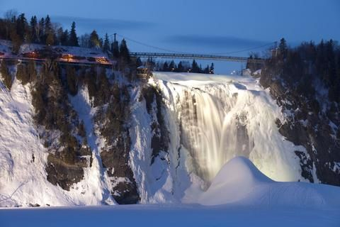 Quebec: Parc de la Chute-Montmorency, one and a half times higher than Niagra Falls!