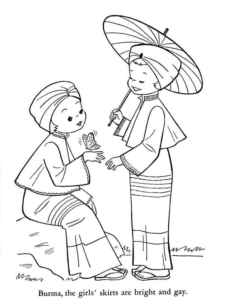 """child around the world coloring pages 