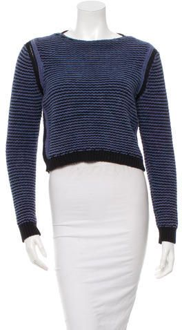 Rebecca Taylor Crew Neck Cropped Sweater