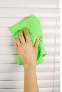 Cleaning Vinyl Blinds - tips for regular mini blind maintenance and how to deep clean window blinds.