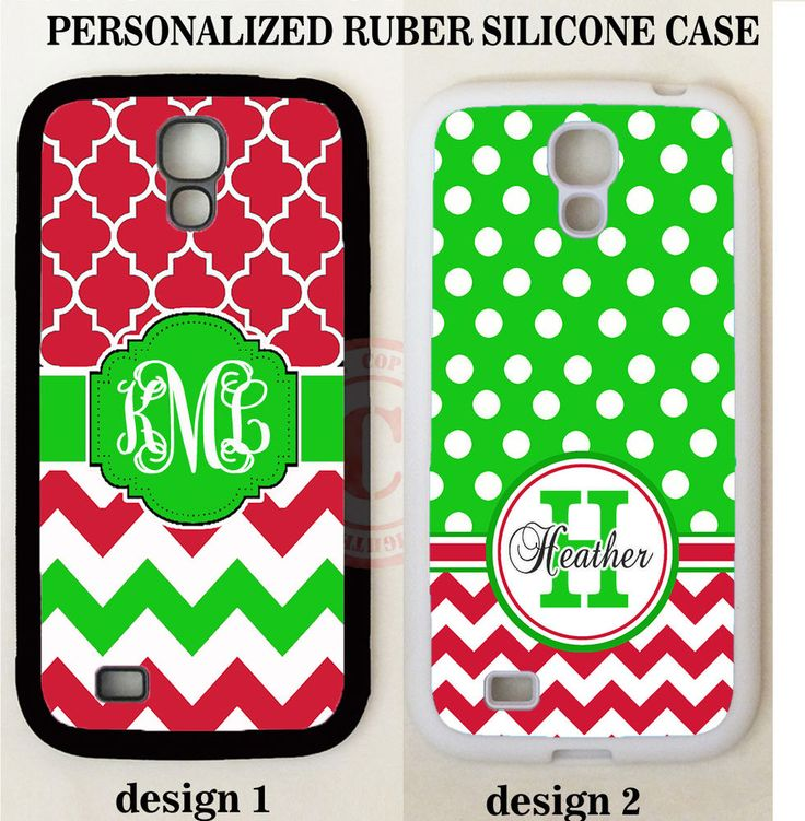 CHRISTMAS GREEN RED CHEVRON MONOGRAM PHONE Case For Samsung Galaxy S7 S6 NOTE 5 #UnbrandedGeneric