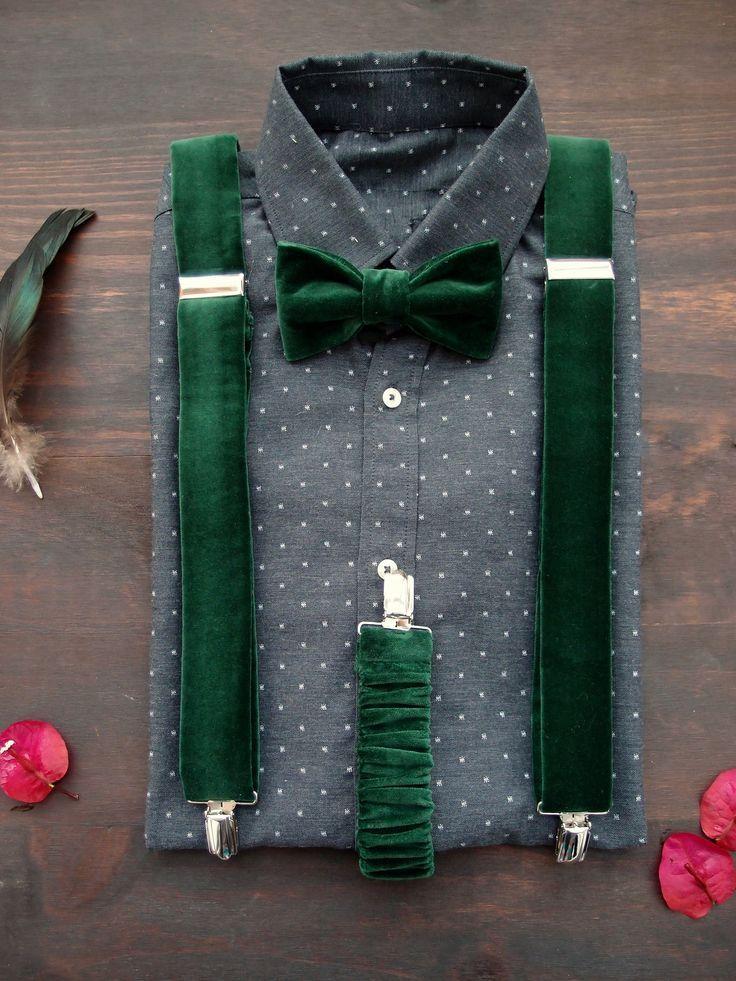 Emerald Green With Images Groom Suspenders Suspenders Suspenders Men