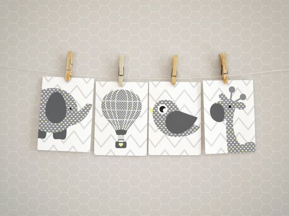Set of four printable posters perfect for any nursery