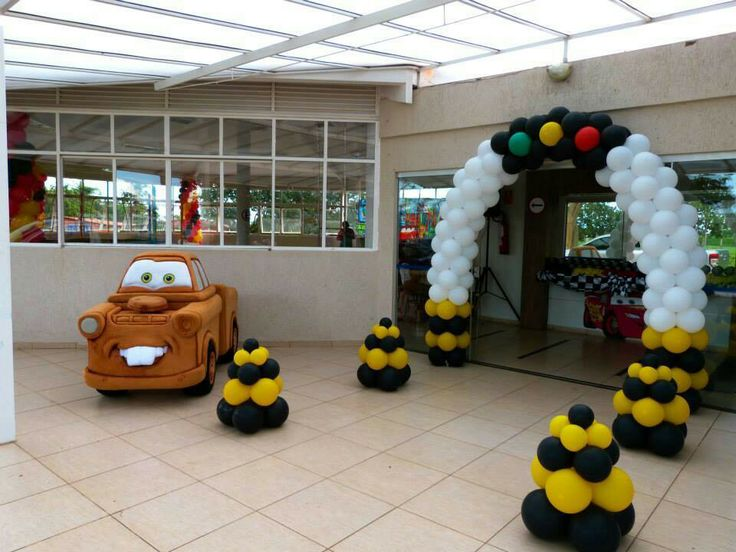 26 best images about globos cars on pinterest cars for Balloon decoration cars theme