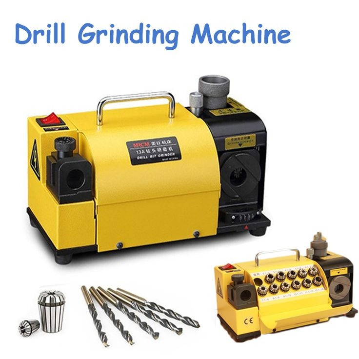 Easier Operation and No Skill Drill Sharpener Machine Drill Bit Grinding Machine in Yellow Color MR-13A