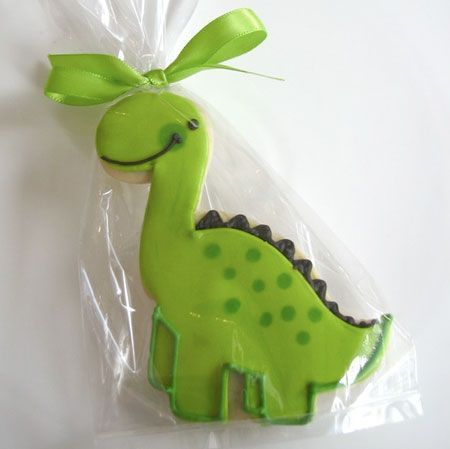 how to make a dinosaur out of icing