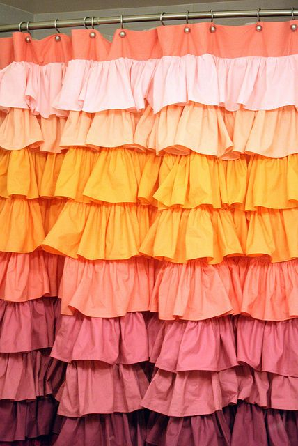 DIY instructions for Anthropolgie Smoldering Hues Shower Curtain