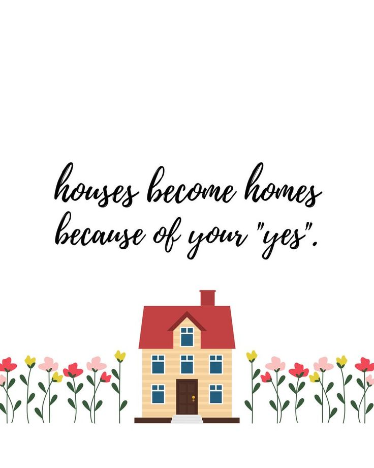 Houses homes floral foster parent printable custom