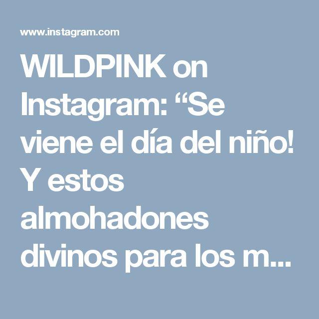 """WILDPINK on Instagram: """"Se viene el día del niño! Y estos almohadones divinos para los más pequeños! Encargalo de la medida que quieras!🎁🐧🐺🐶🐼🎁"""" • Instagram"""